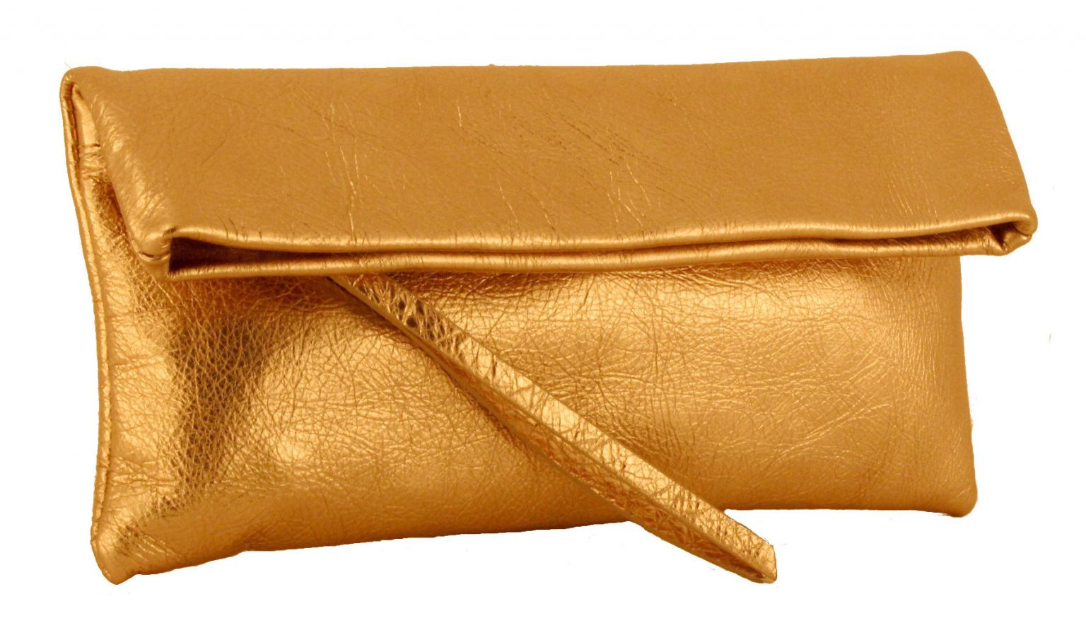 Gianni Chiarini Ledertasche Clutch Rame Bronze