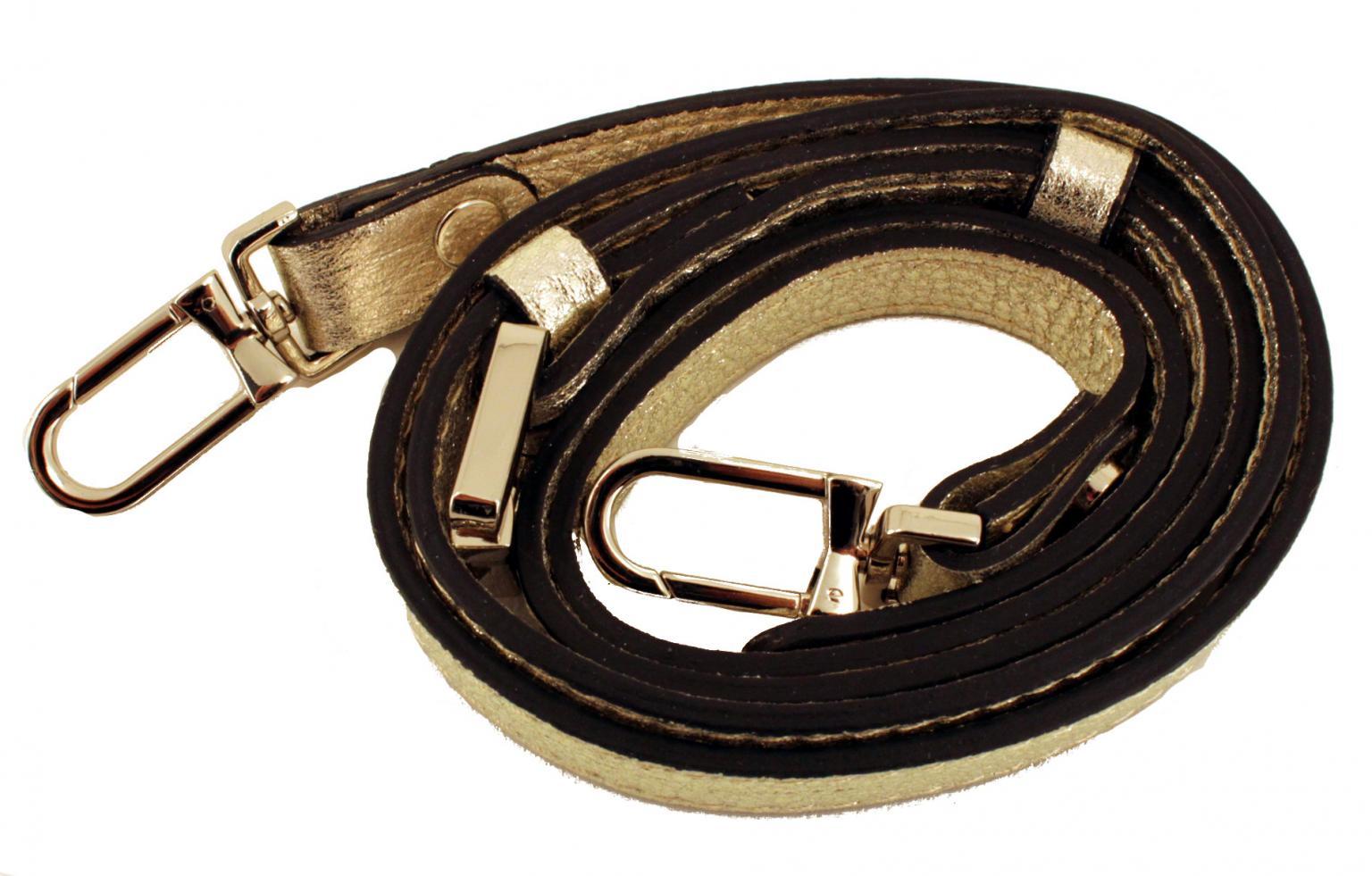 Gianni Chiarini Ledertasche Reißverschluss glänzend silber