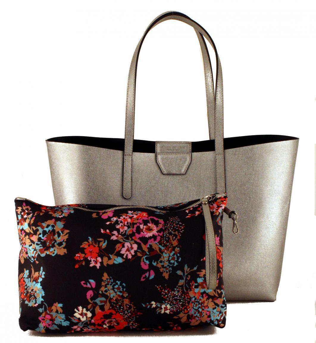 Gianni Chiarini Shoppertasche Silver Innentasche Blumen