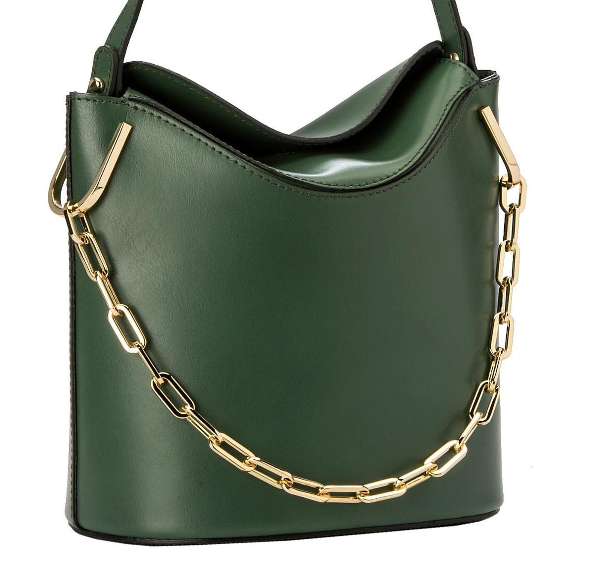 Gianni Chiarini Sophia Emerald kleine Schultertasche dunkelgrün