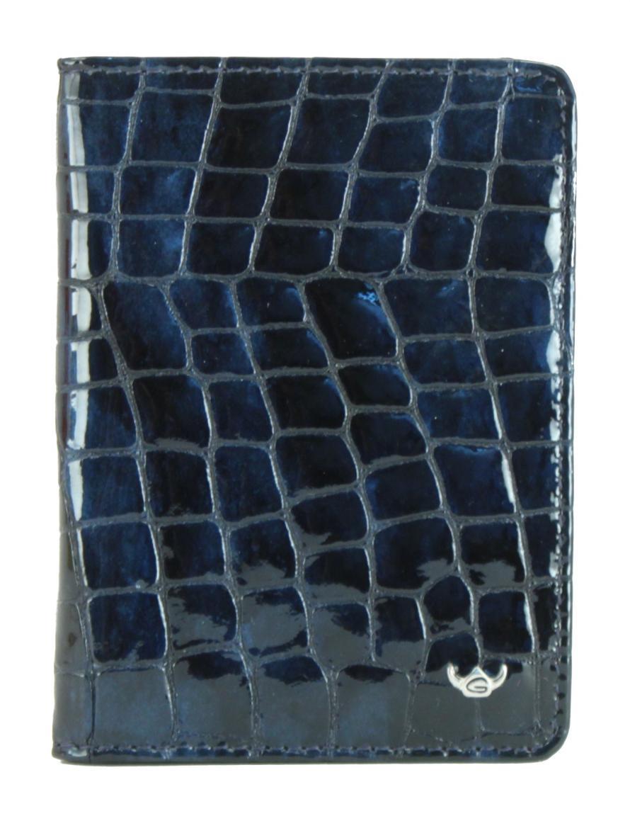 Golden Head Ausweisetui Cayenne Kroko Lack nachtblau