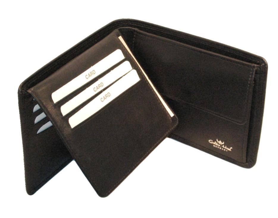 Golden Head Polo Herrengeldbörse RFID-Protect schwarz Nappa