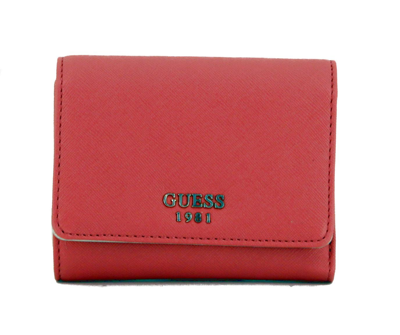 ac35e6ff1b6dd Guess Damenbörse Keaton Coral Pink gold - Bags   more