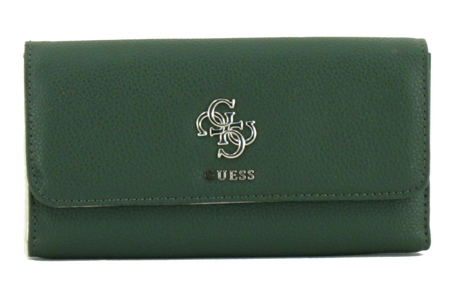 b20cf1475dd Guess Damengeldtasche Digital Olive grün viele Kartenfächer - Bags ...