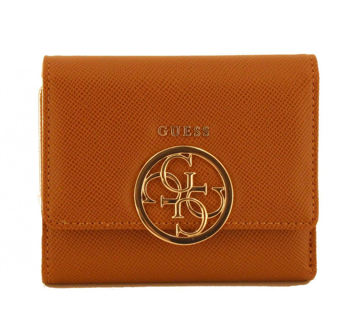 cbb0156b1448d Guess Geldbörse Überschlag Kamryn SLG Cognac gold - Bags   more