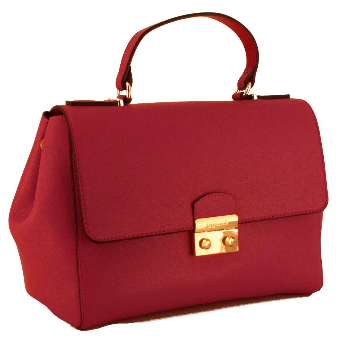 f1fdf0dcb1748 Guess Handtasche Henkel Kunstleder Fucsia Pink Gold - Bags   more