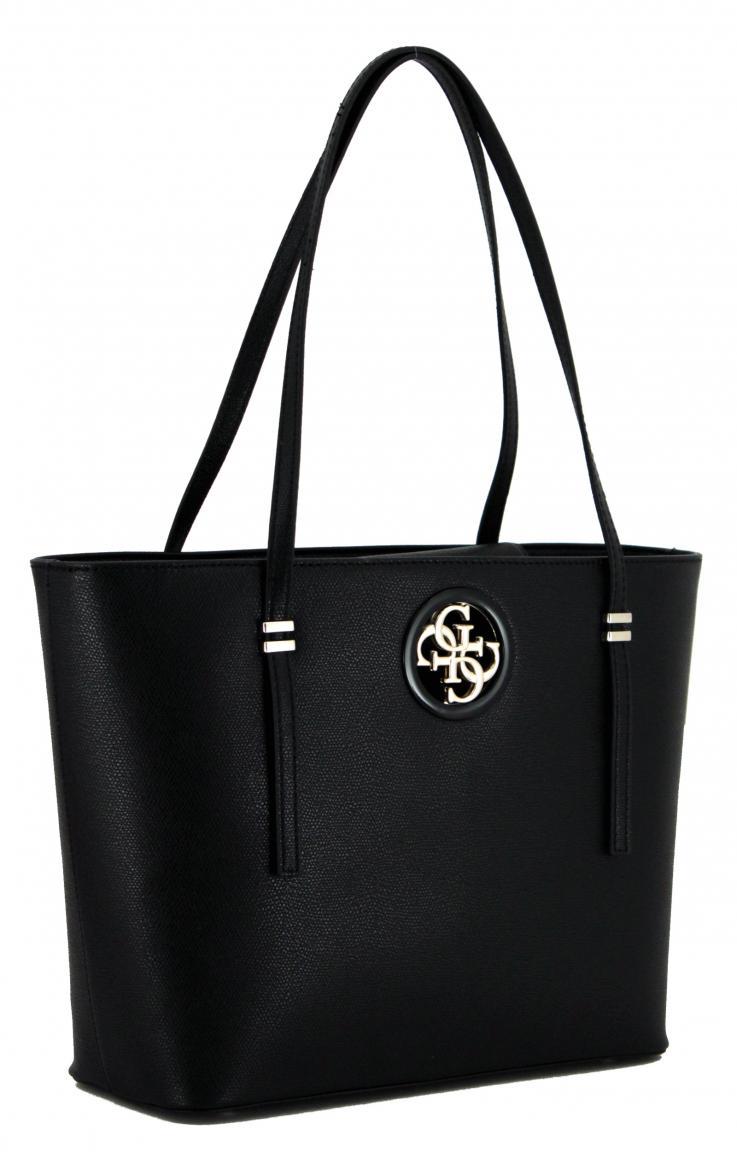 6ccdcb128fe54 Guess Open Road Tote Bag schwarz Henkeltasche zweigeteilt - Bags   more