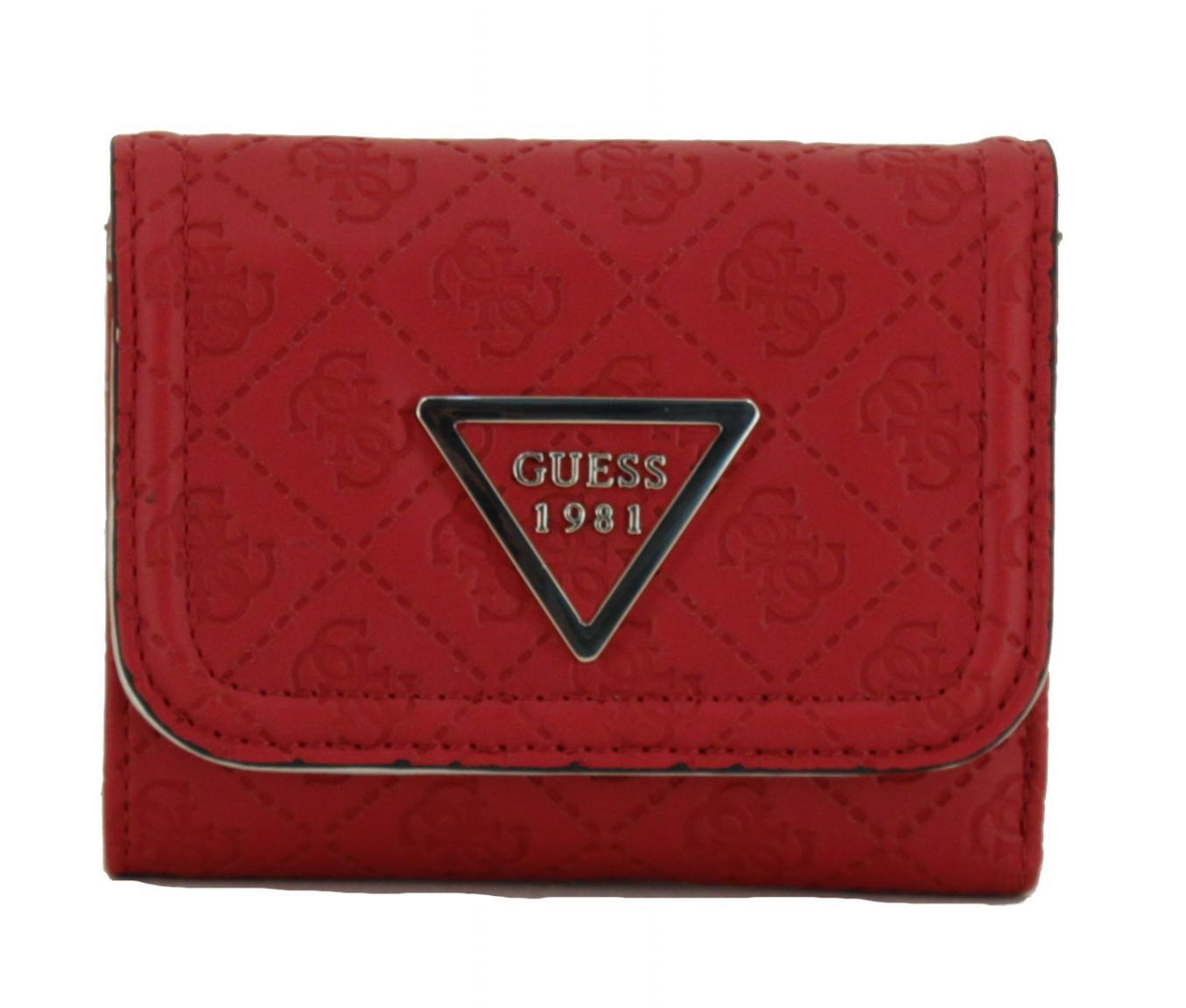 dc932b13c823e Guess Portemonnaie Lyra Red Logoprägung Überschlag rot - Bags   more