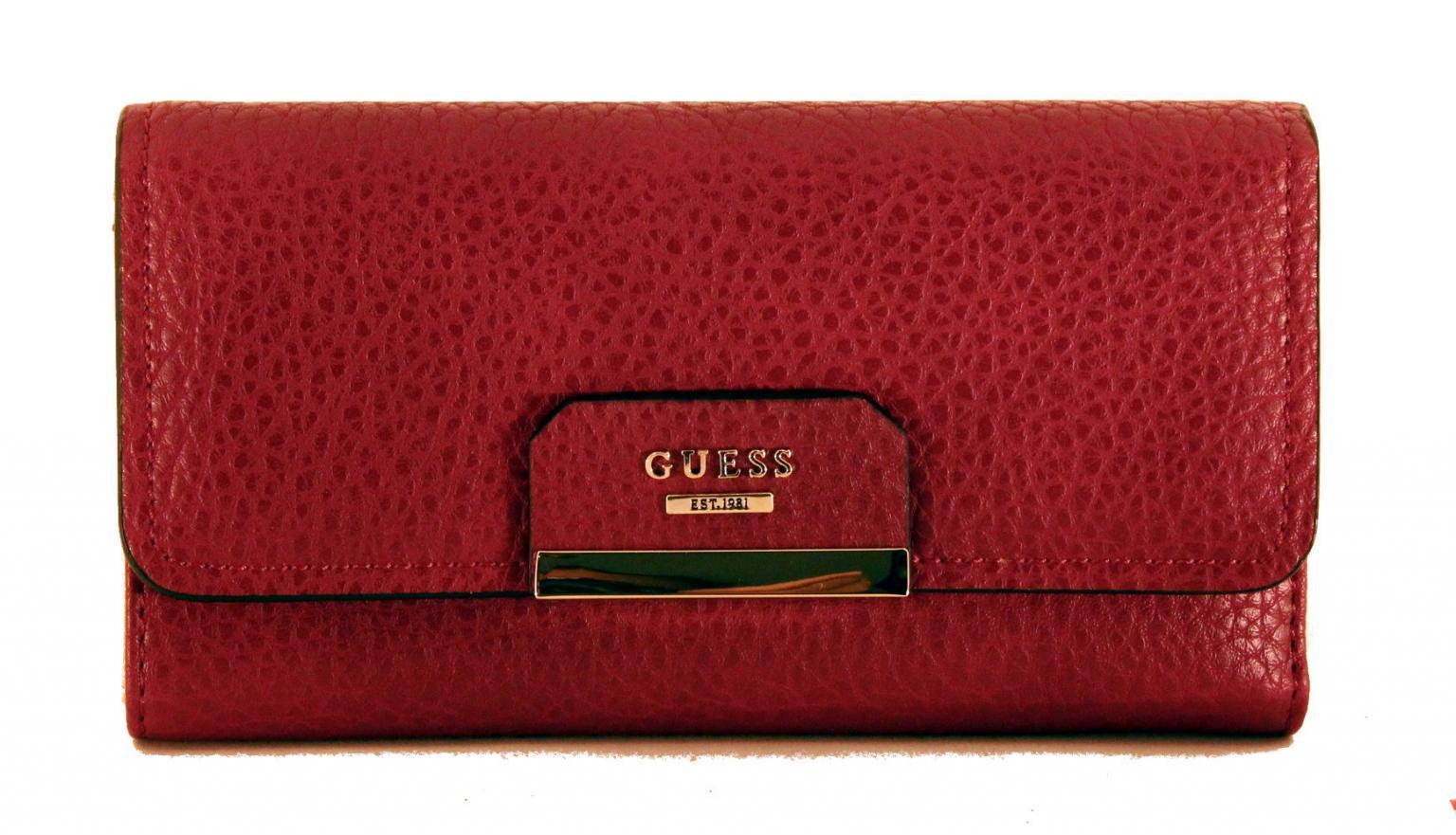 Guess Brieftasche Ryann SLG Überschlag Claret Rot