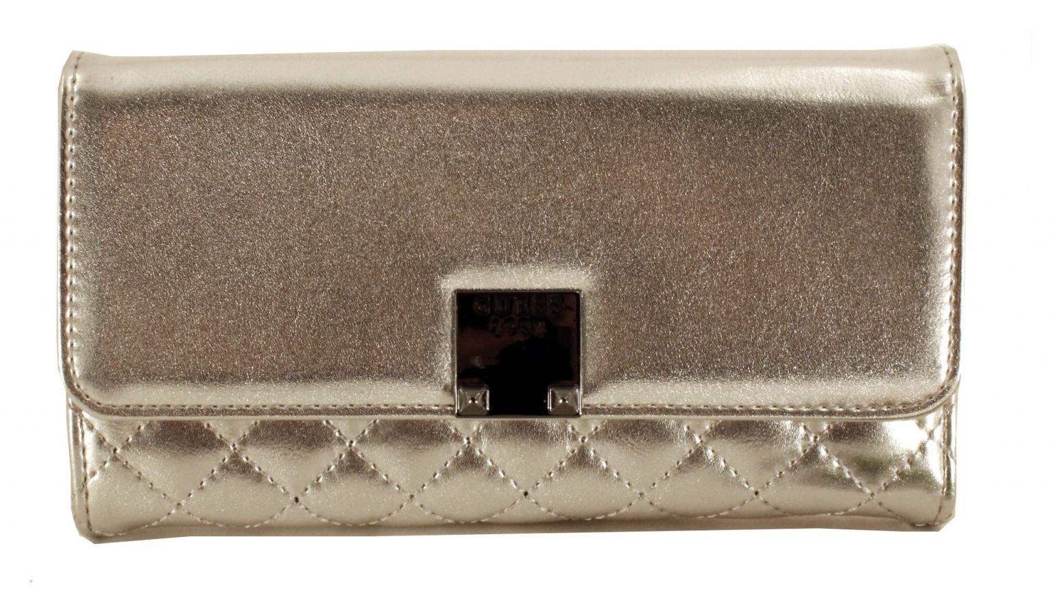 Guess Geldtasche Rochelle SLG Überschlag Silver Silber