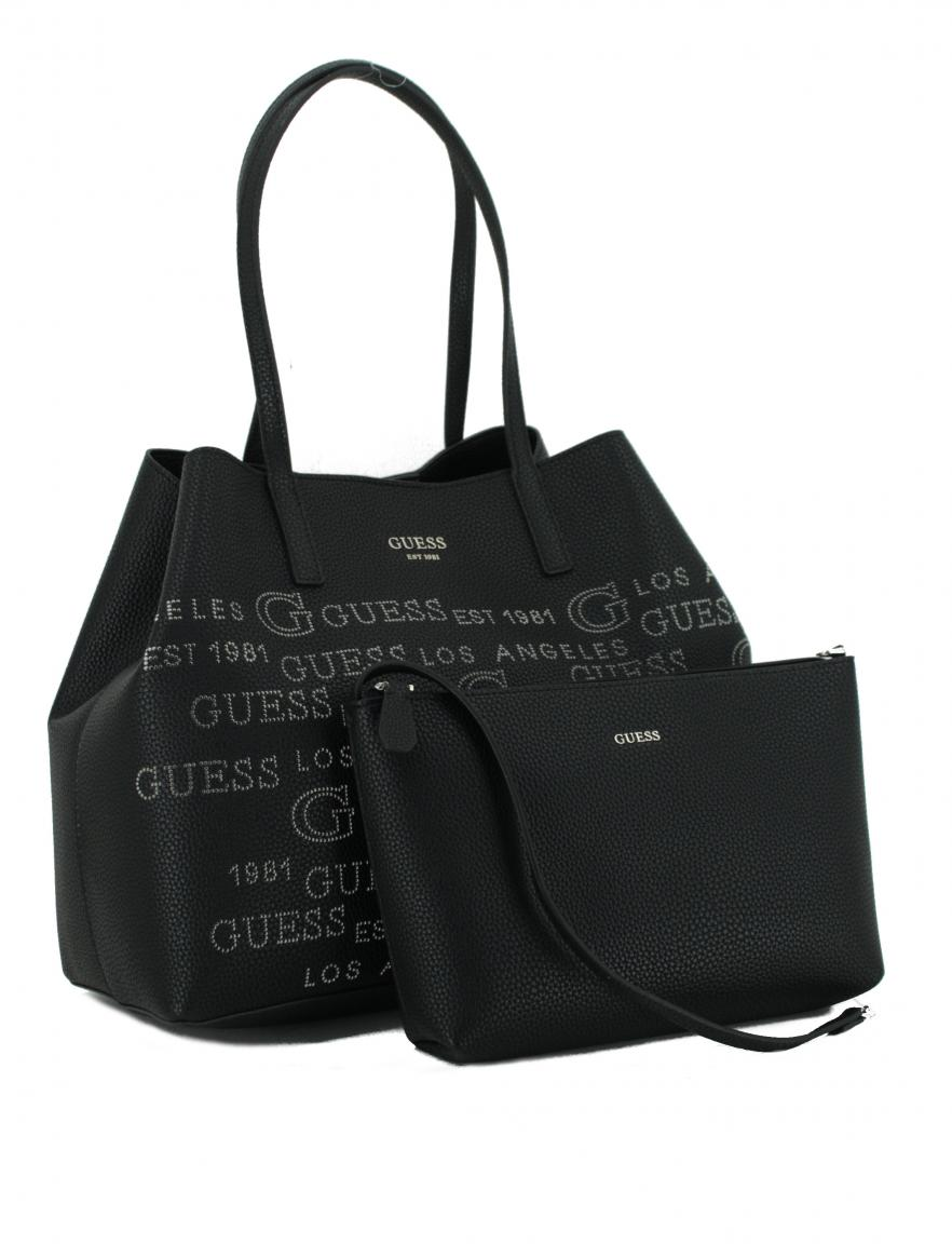 Guess Shopper Vikky Black Schwarz 2in1 Perforierung Large