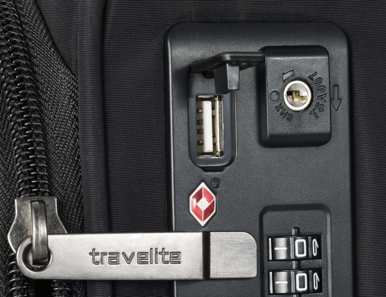 Handgepäckkoffer Travelite Jade dunkelrot 54cm 4-Rad Trolley
