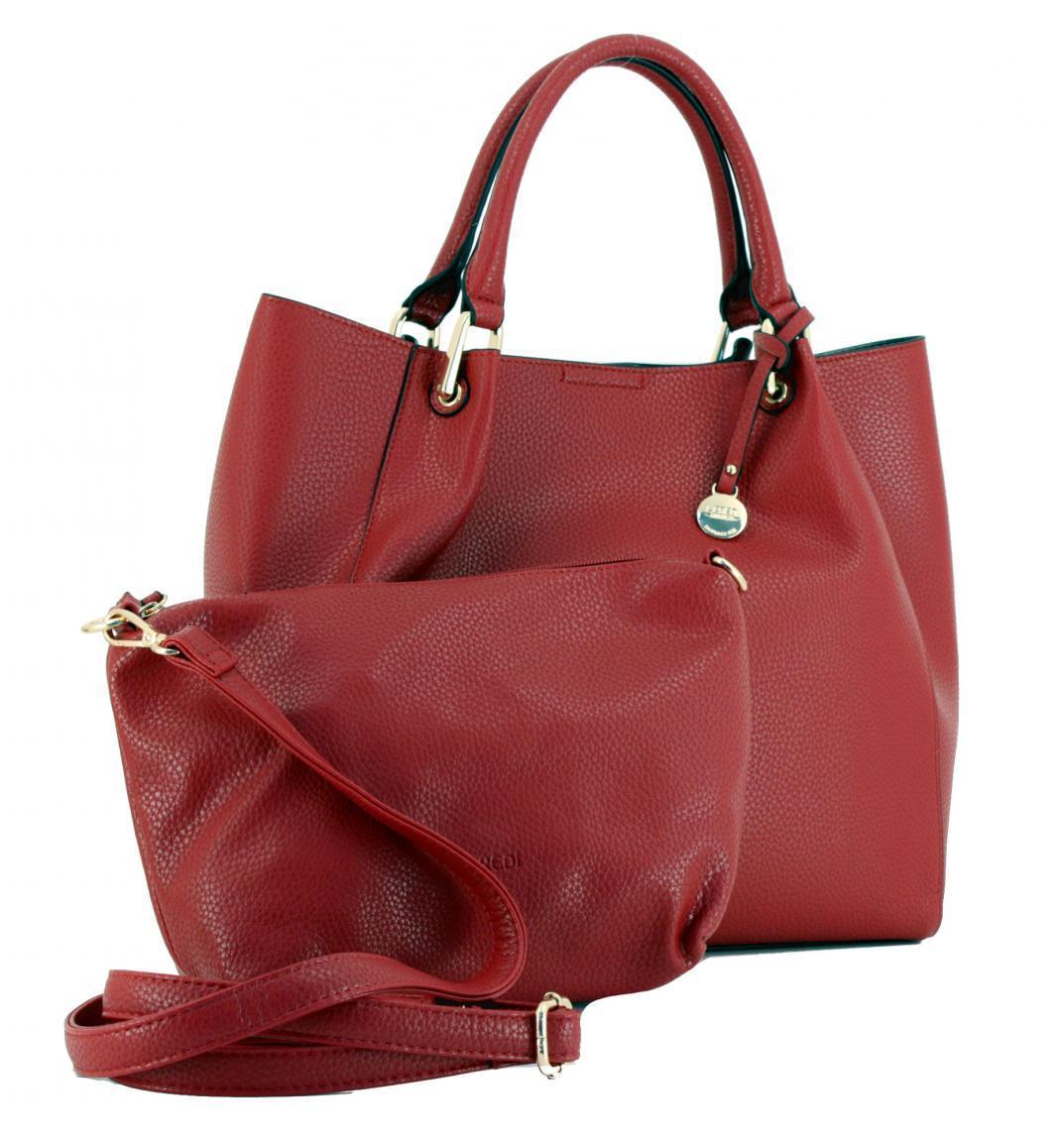 Handtasche Belinda L. Credi Umhängeriemen rot