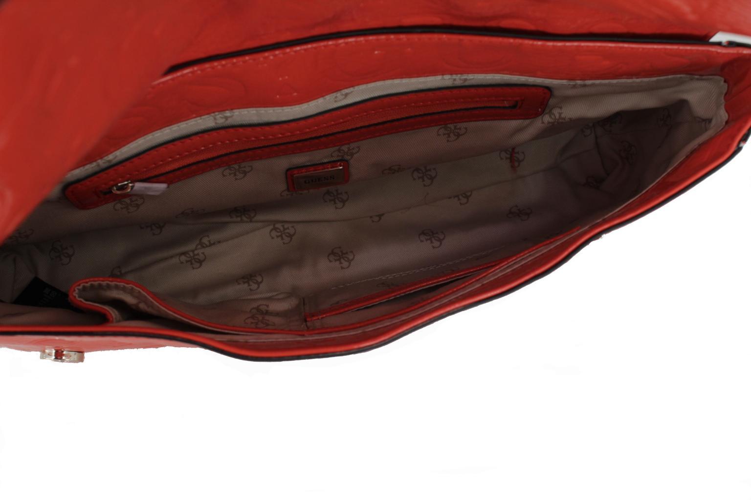 Handtasche Guess Printdruck Lack poppy rot Schultergurt