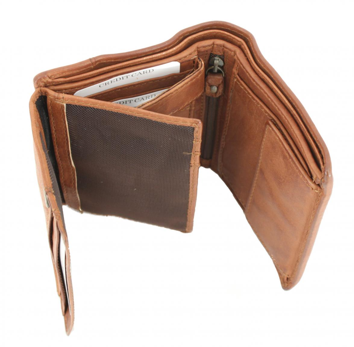 Harbour 2nd Amoy Herrenbrieftasche Brown Anker