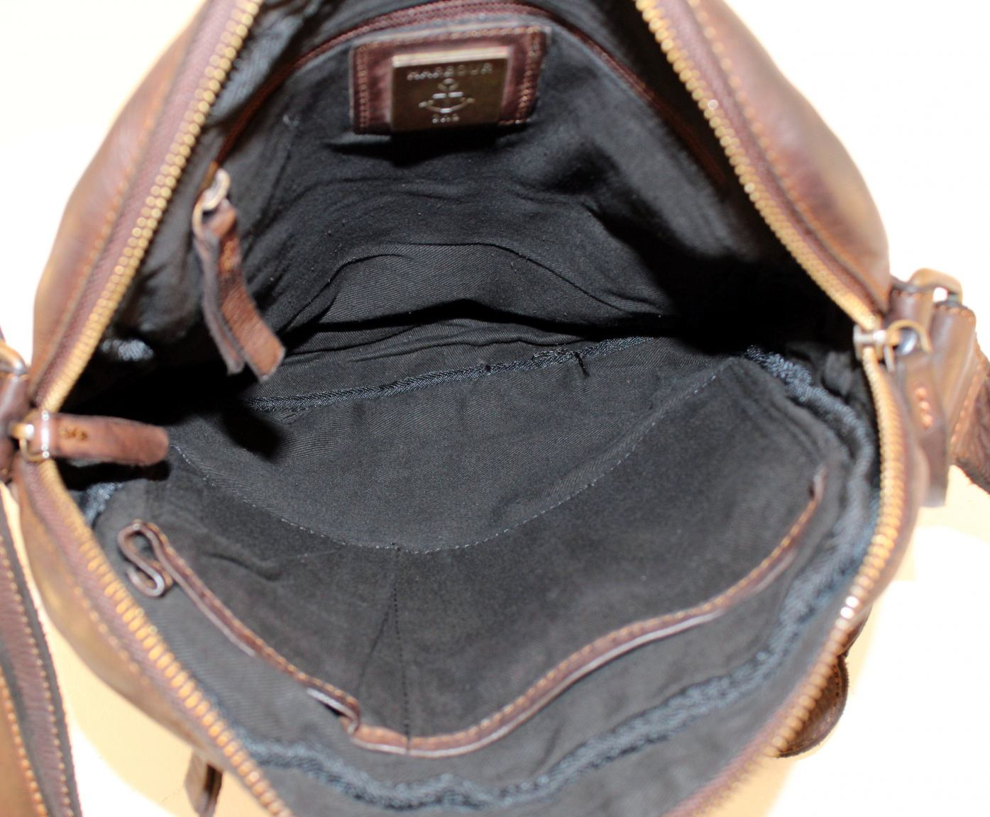 Harbour 2nd Arion Crossbody Bag Rindleder Braun Cognac