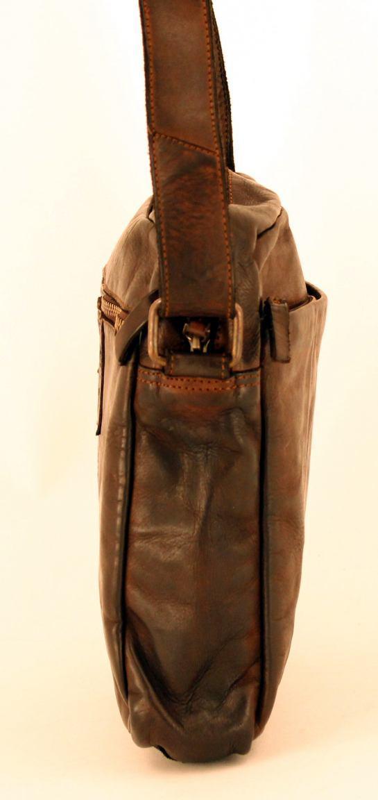 Harbour 2nd Arion Schultertasche Leder Ash schwarz Vintage