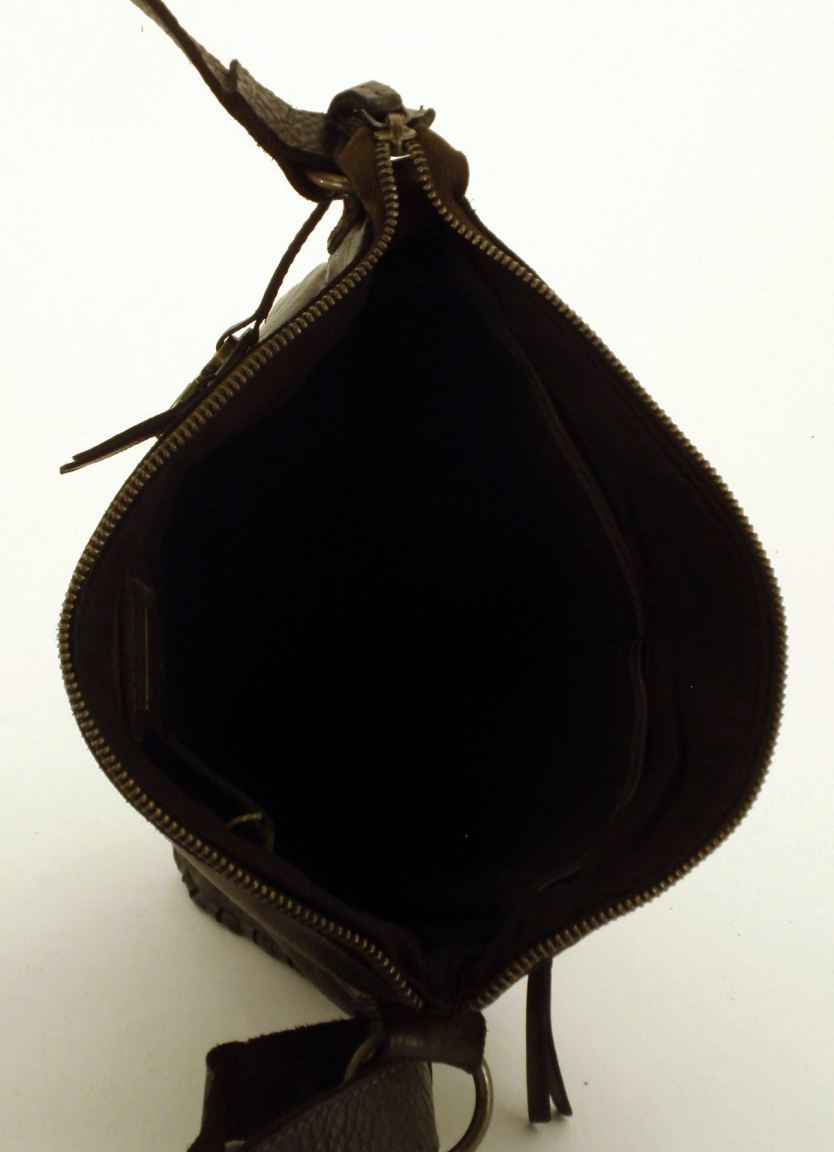 Harbour 2nd Aurora Tasche aus geflochtenem Rindleder cognac