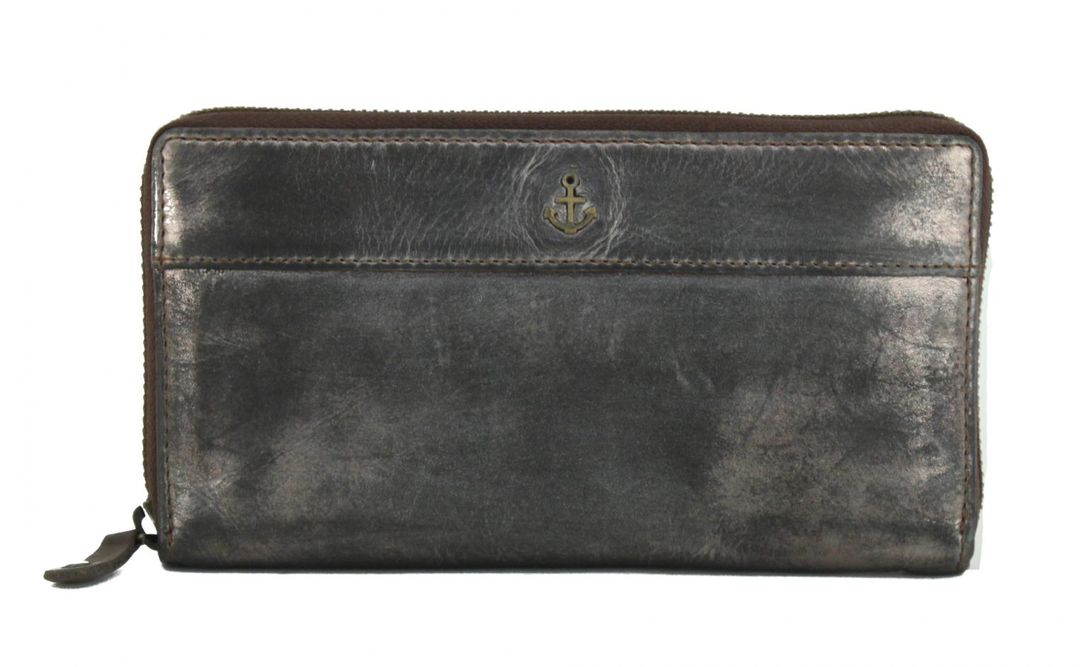 Harbour 2nd Börse Atlantica Bronze metallic Leder braun