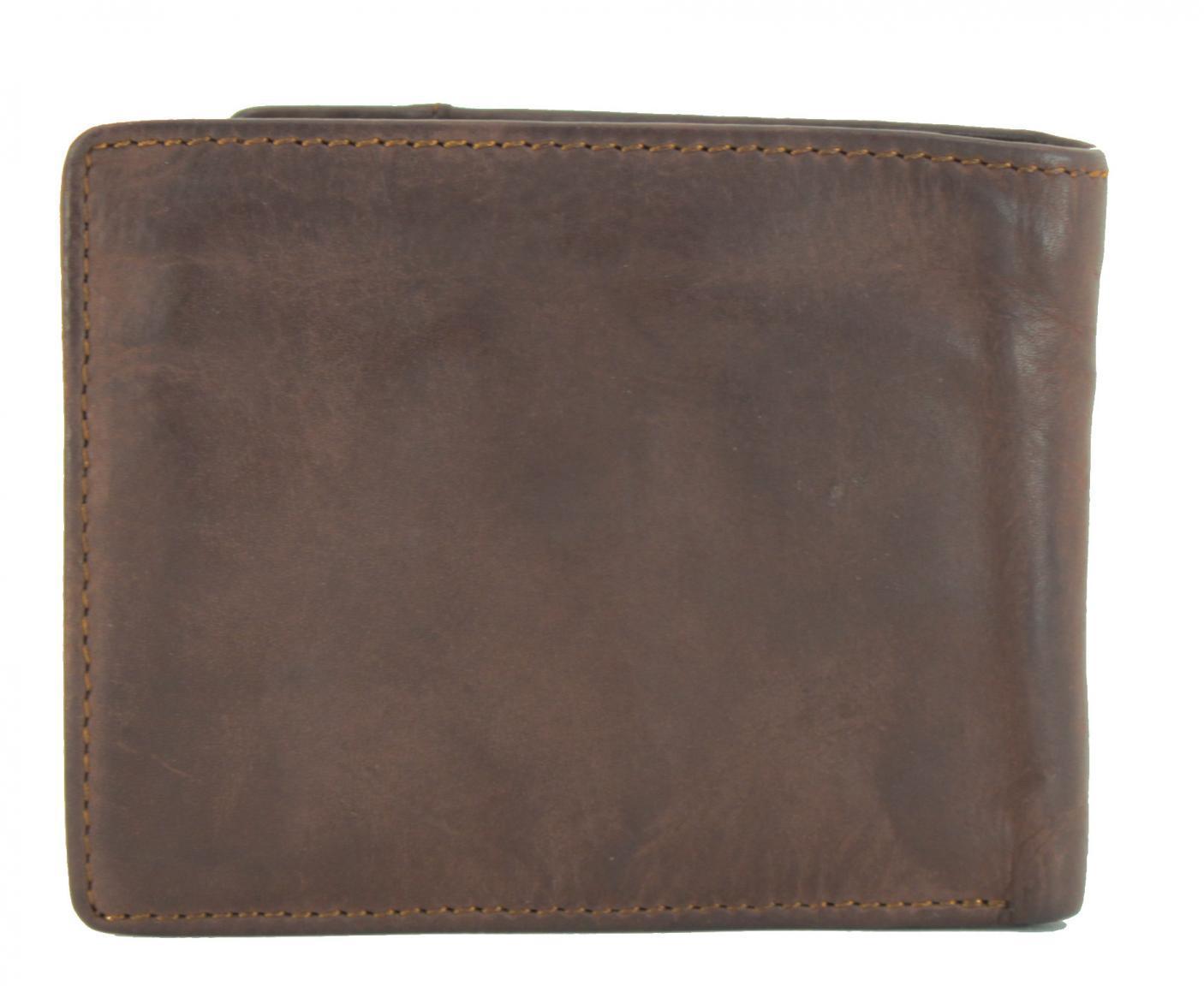 Harbour 2nd Brieftasche mit Münzfach August Brown Leder