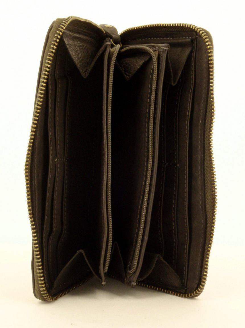 Harbour 2nd Flechtgeldtasche mit Nieten Leder rot