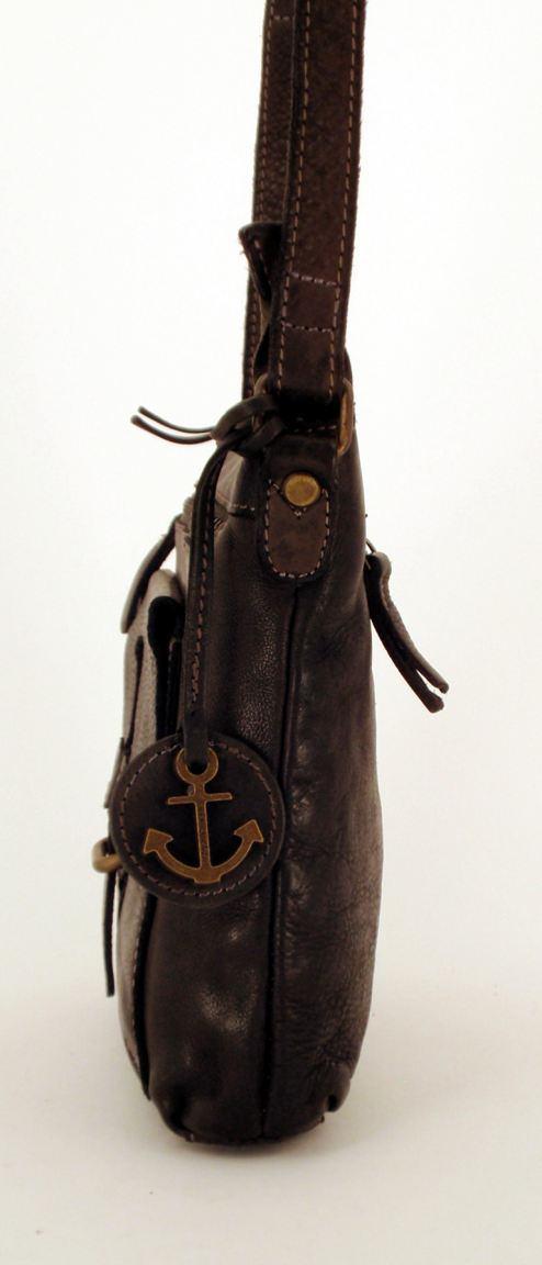 Harbour 2nd Umhängetasche Hazel aus Leder schwarz