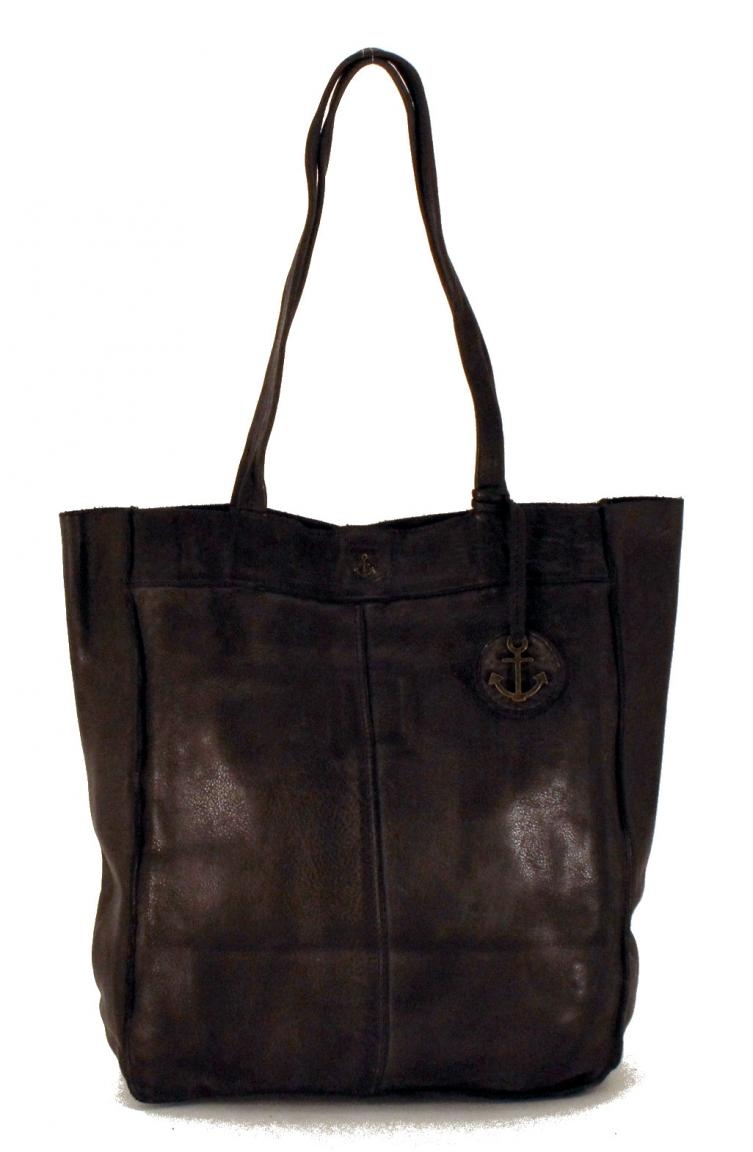 Harbour2nd Lederbeutel Elbe Shopper Cognac Braun