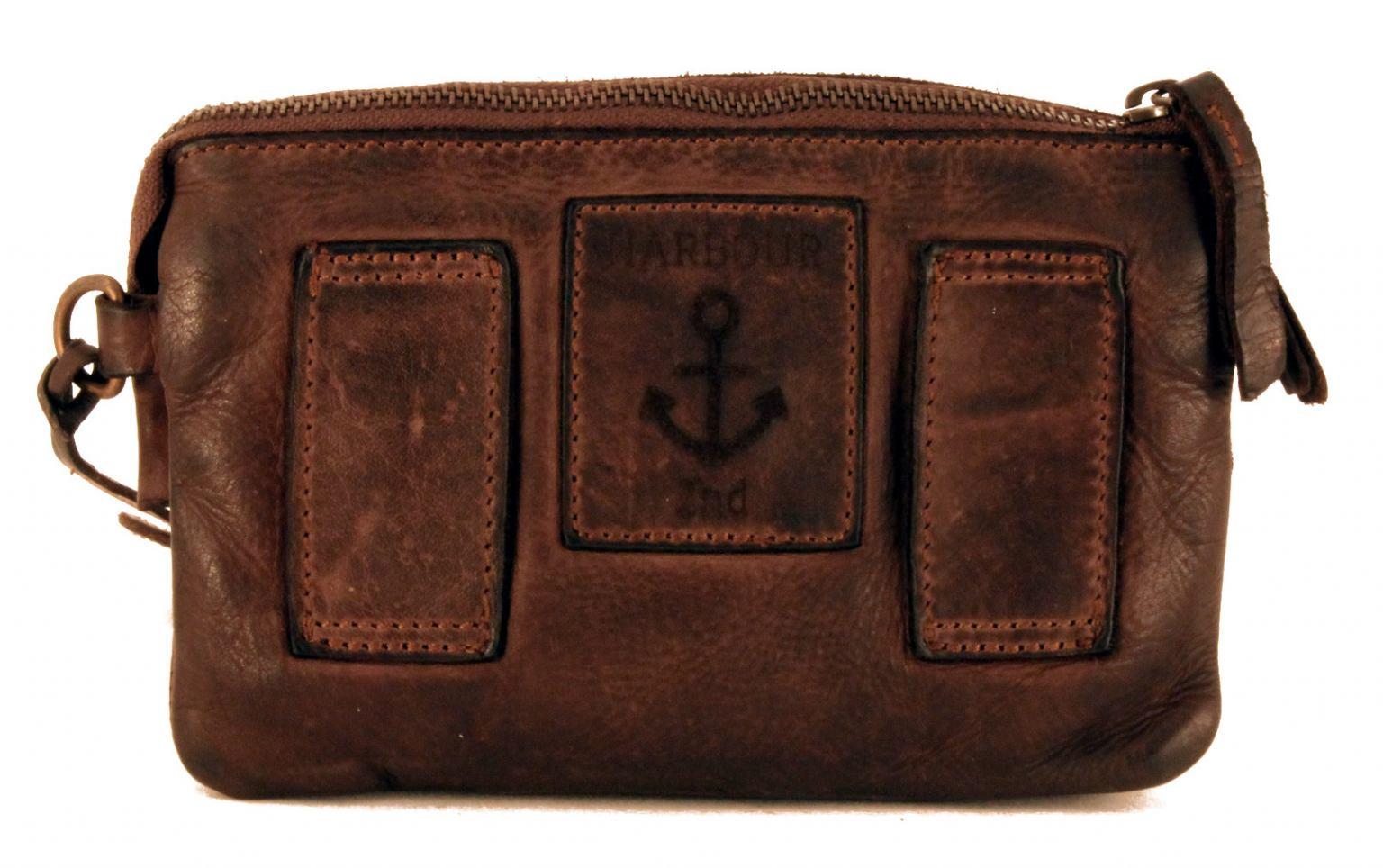 Harbour2nd Perla Hüfttasche graubraun Stone Grey Vintage Leder