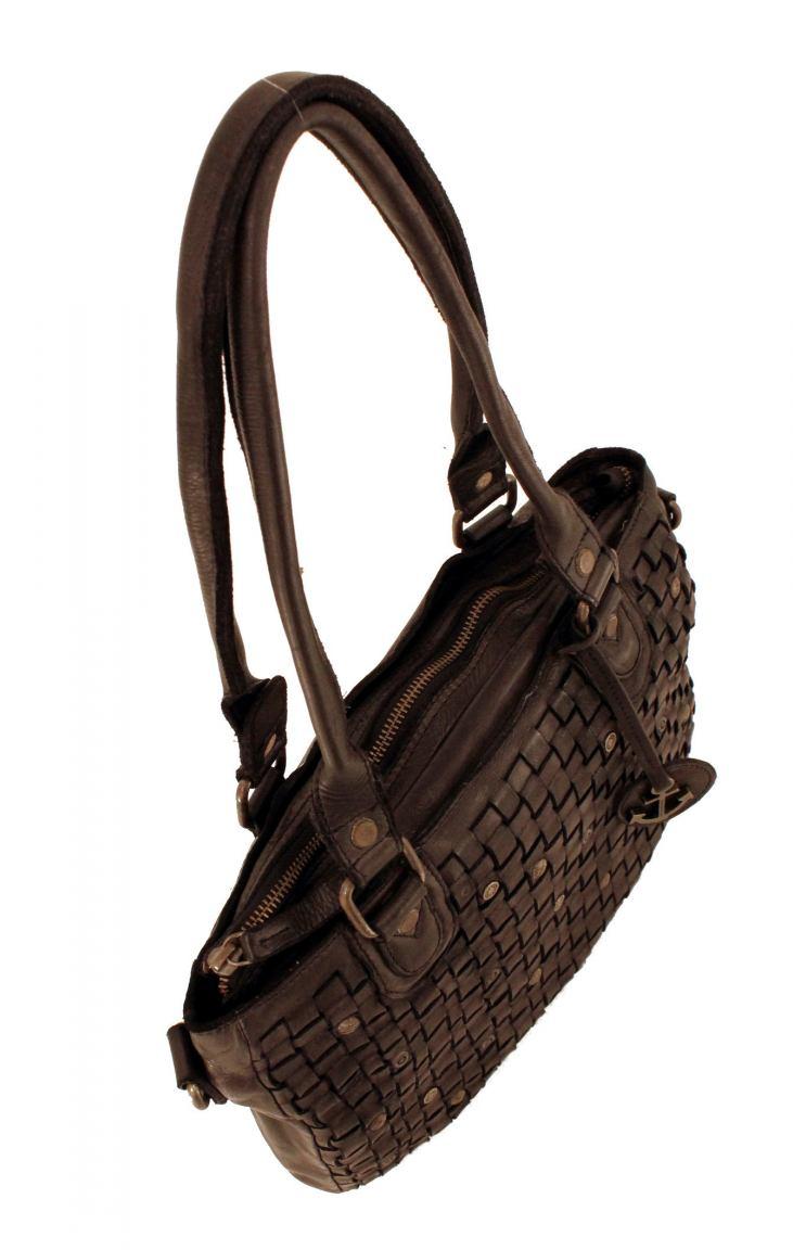Harbour2nd Shopper Ysabel gewebtes Leder Bronze braun