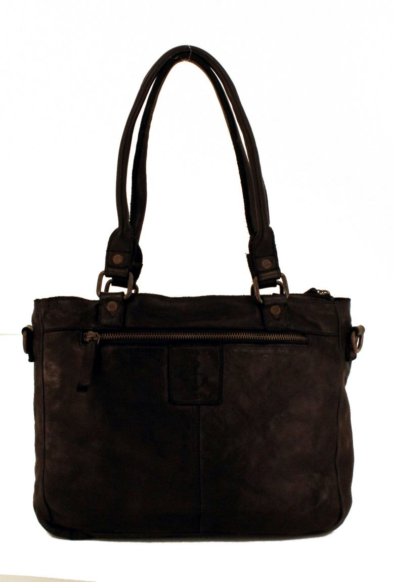 Harbour2nd Shoppertasche Webmuster Ysabel Leder Cognac