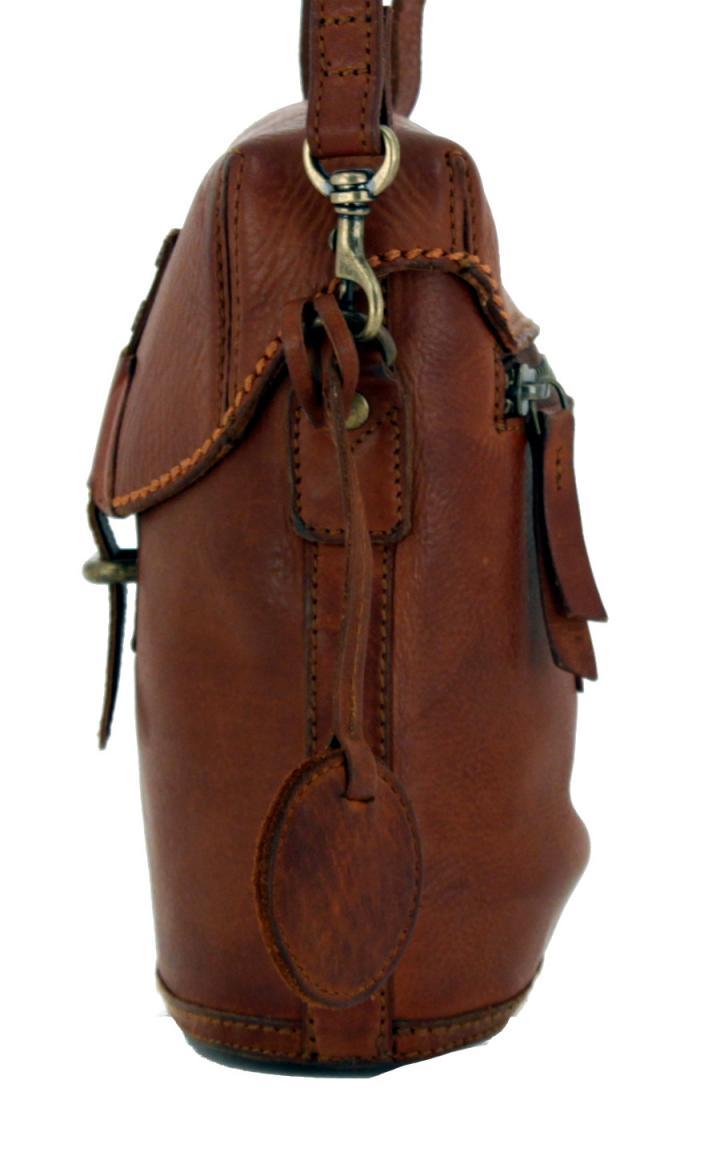 Harbour2nd Überschlagtasche Flora Leder Cognac braun