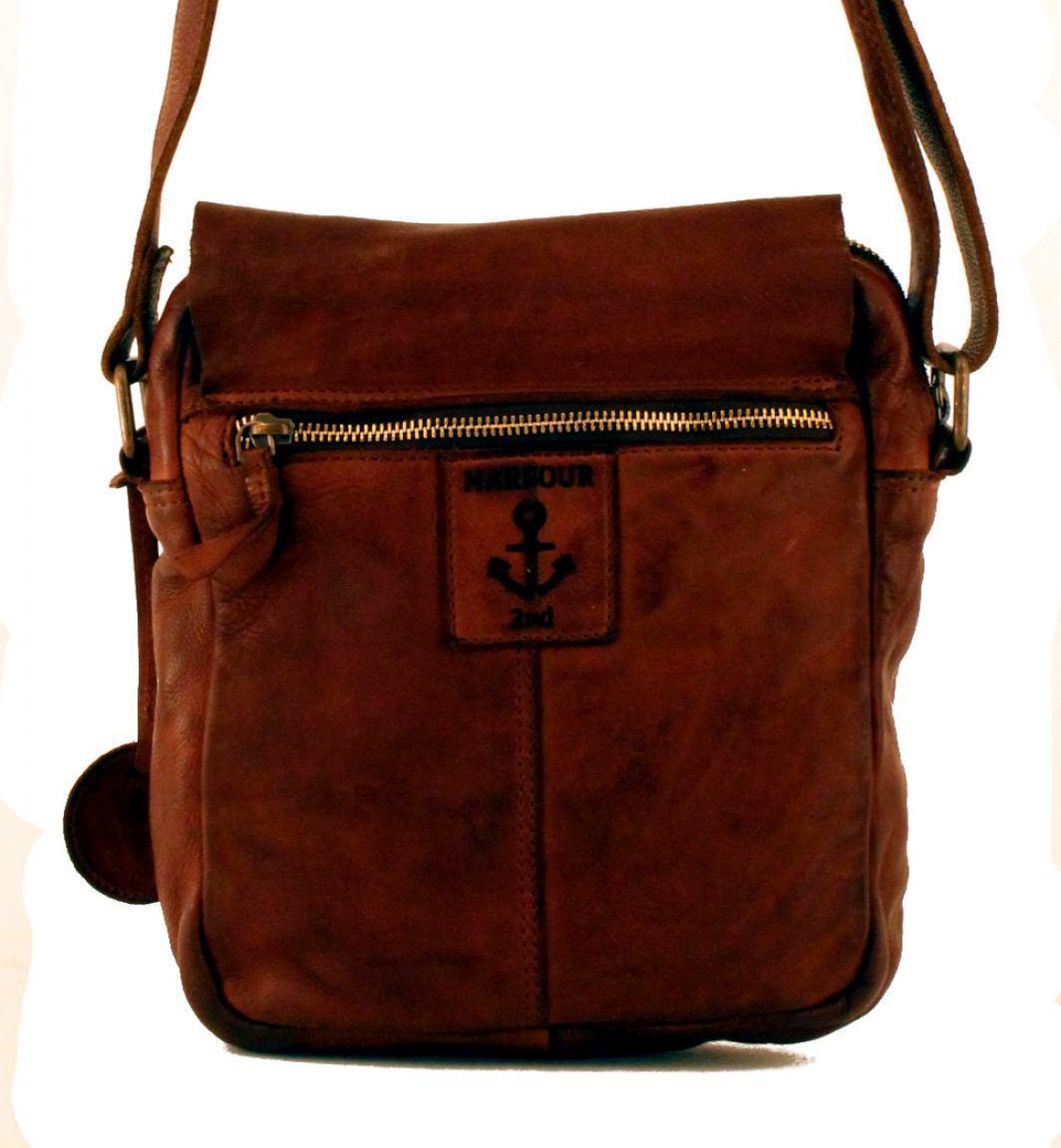 Harbour2nd Überschlagtasche Urd Leder Cognac braun