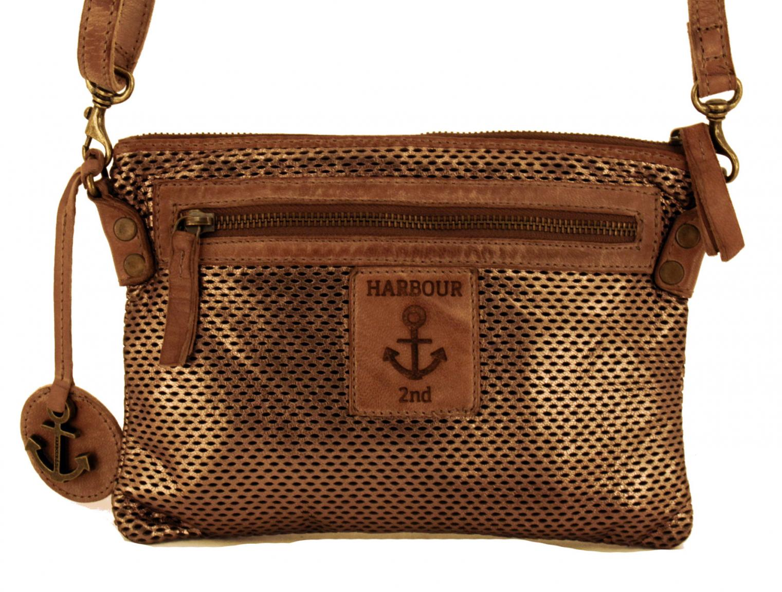 Harbour2nd Umhängetasche m-Jana Leder Zip silver