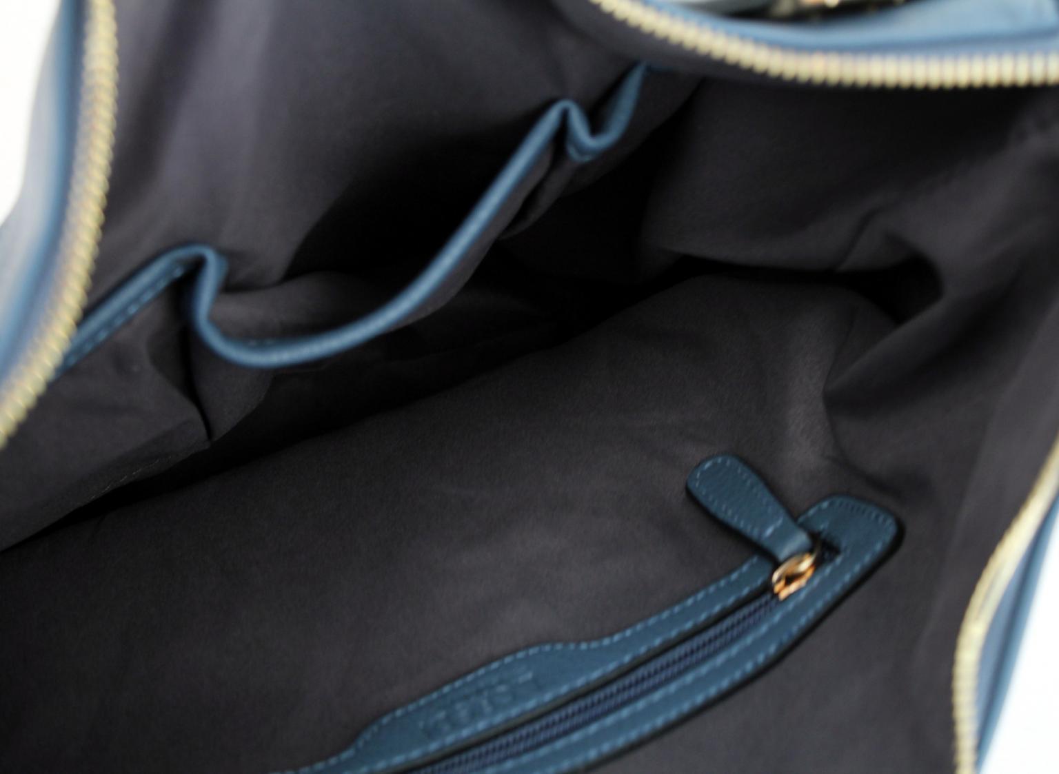 Henkeltasche Belen Marine L. Credi dunkelblau Silber