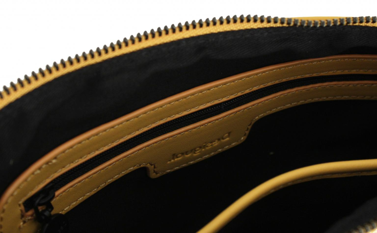 Henkeltasche Desigual schwarz gelb Minuet Merlo V Innentasche