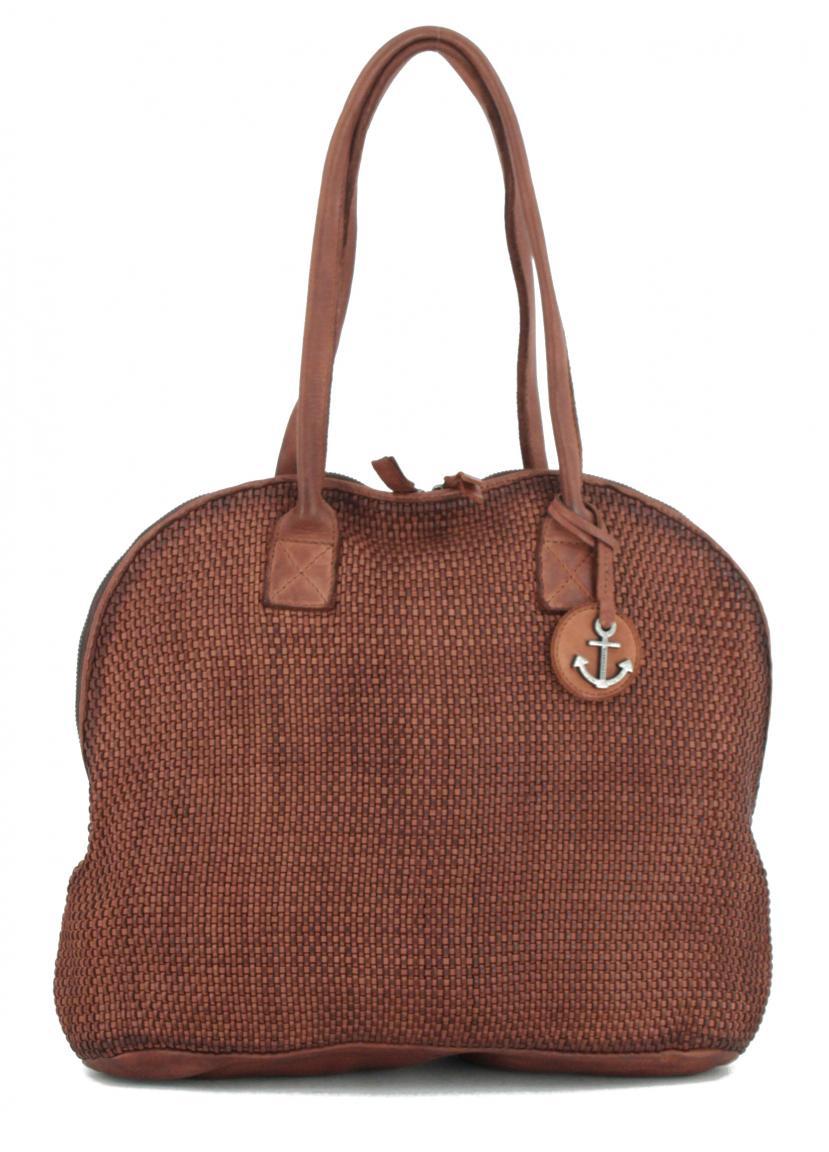 Henkeltasche Harbour 2nd Audrey Soft Weaving 2 Charming Cognac