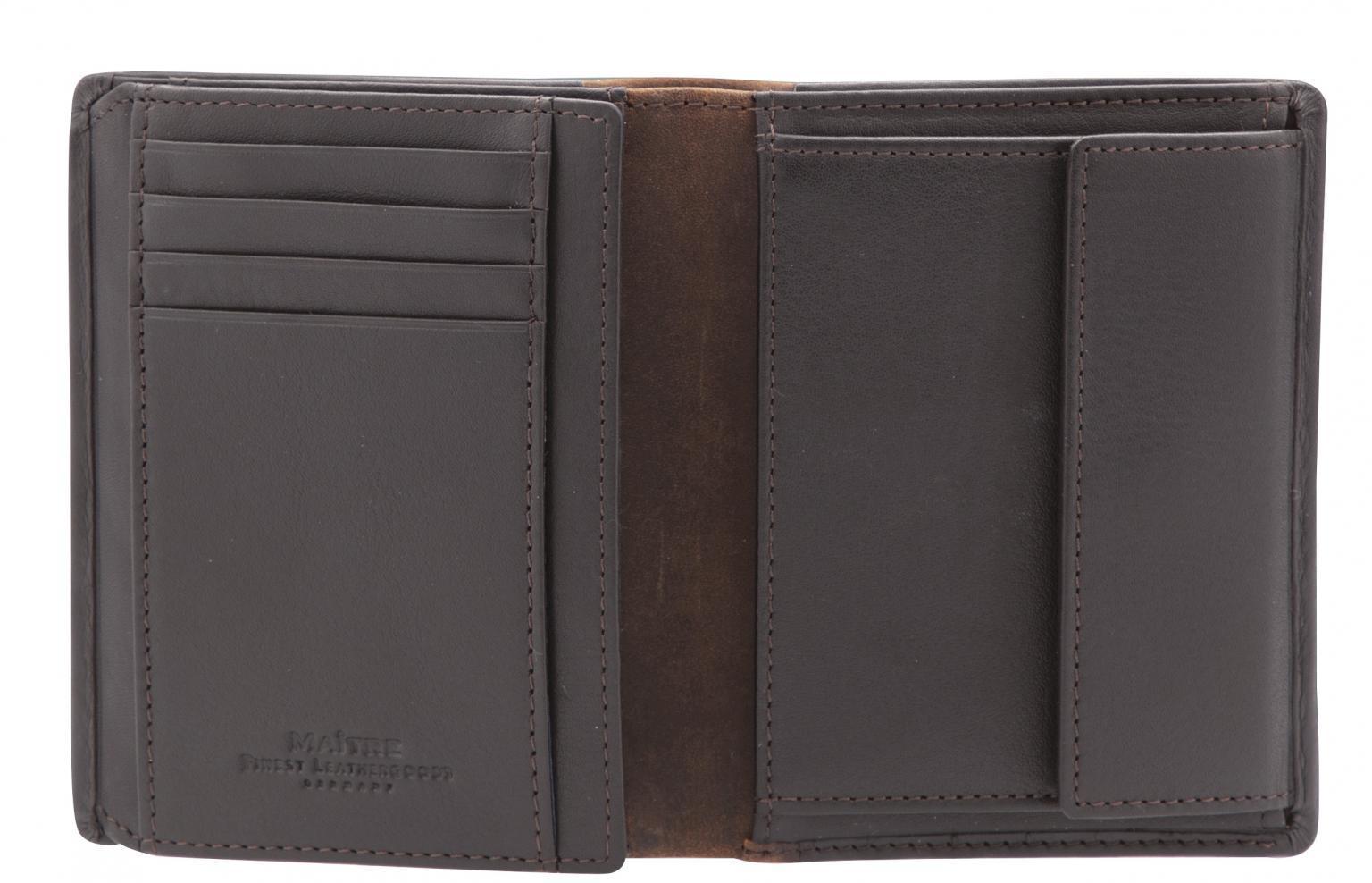 Herrenbörse Hochformat Maitre bundenbach Hainer dark brown RFID