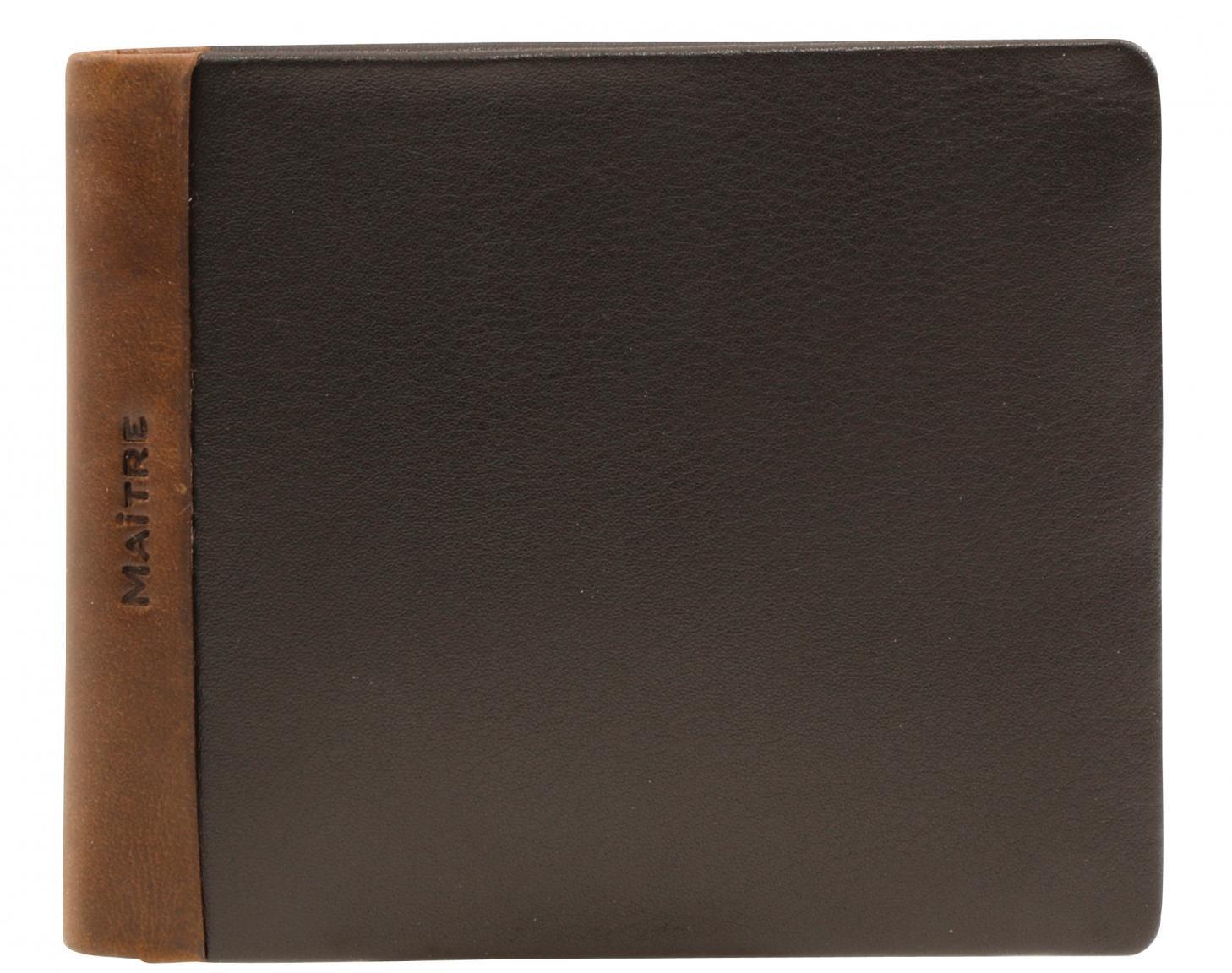 Herrengeldbörse Maitre bundenbach Gandolf BillFold dark brown RFID