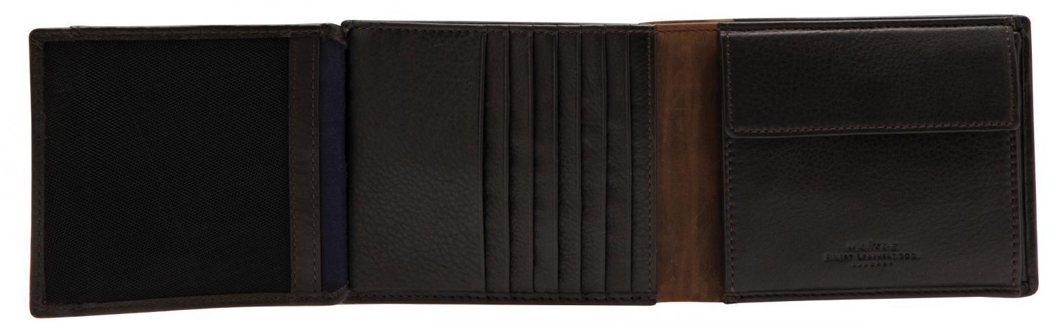 Herrengeldbörse Maitre bundenbach Gilbrecht BillFold dark brown RFID