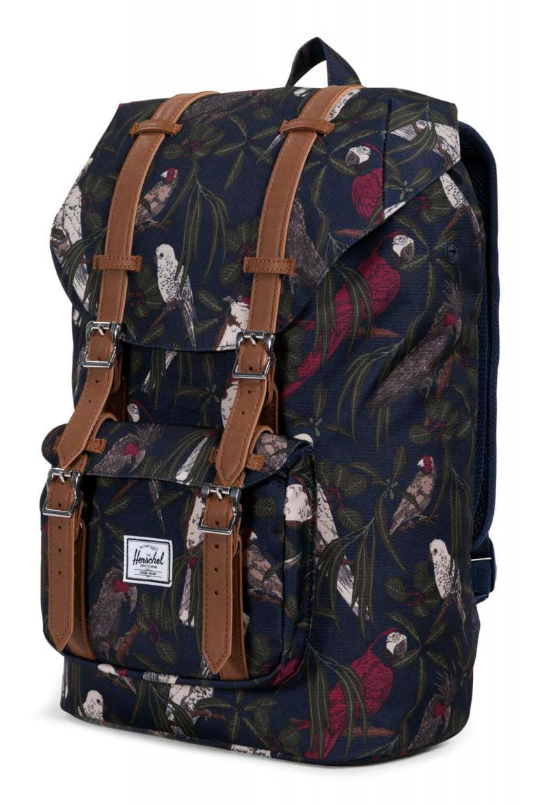 herschel little america mid rucksack peacoat parlour. Black Bedroom Furniture Sets. Home Design Ideas