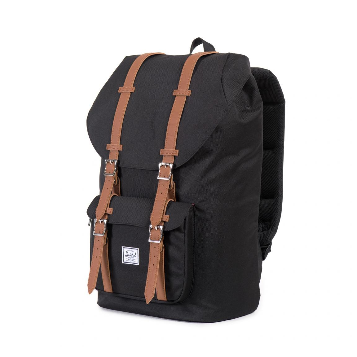 herschel schulrucksack little america schwarz braun bags. Black Bedroom Furniture Sets. Home Design Ideas