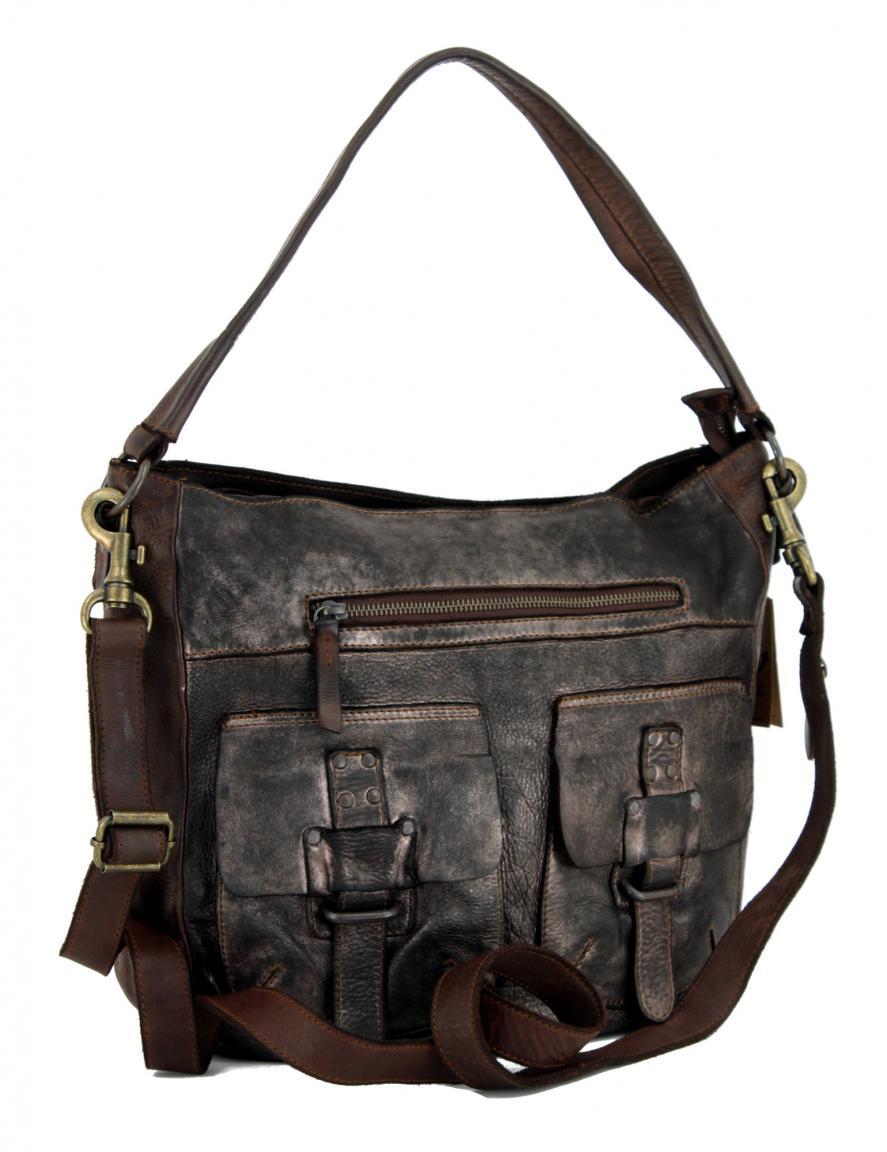 Hobo Bag Harbour2nd Ellida Vintage Bronze braun glänzend