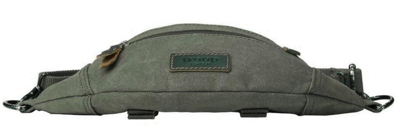 Hüfttasche troop Classic Olive Canvas grün Leder Hundemarke