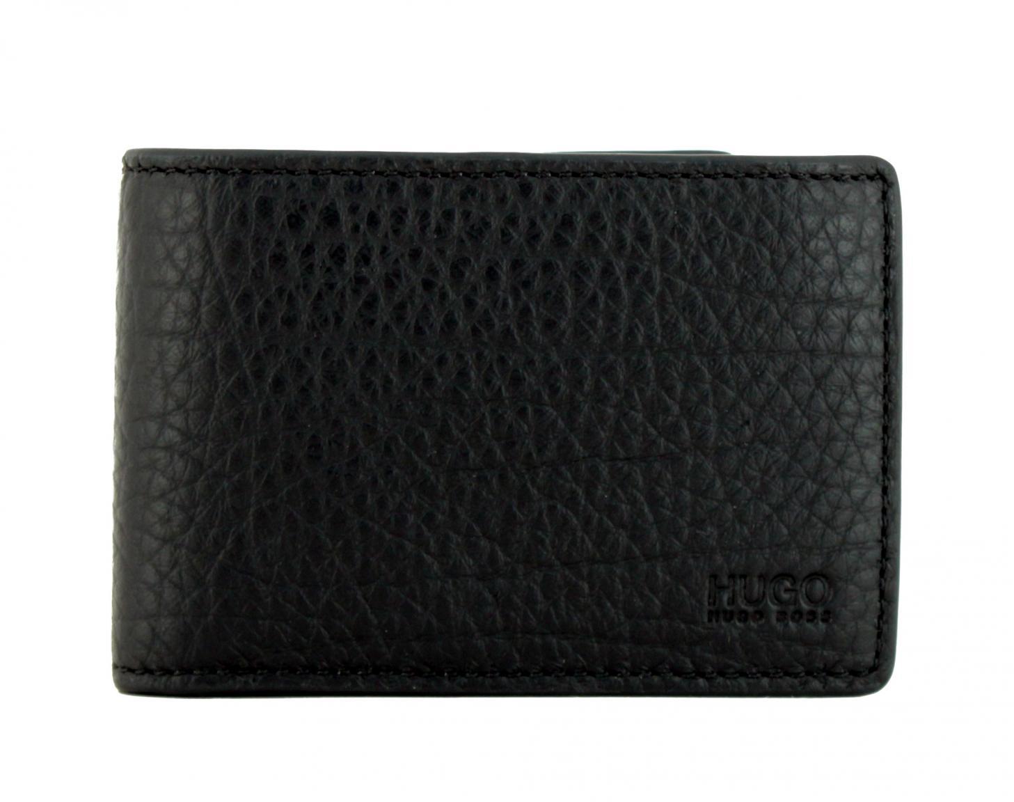 Hugo Boss Victorian flap Klappportemonnaie schwarz Leder