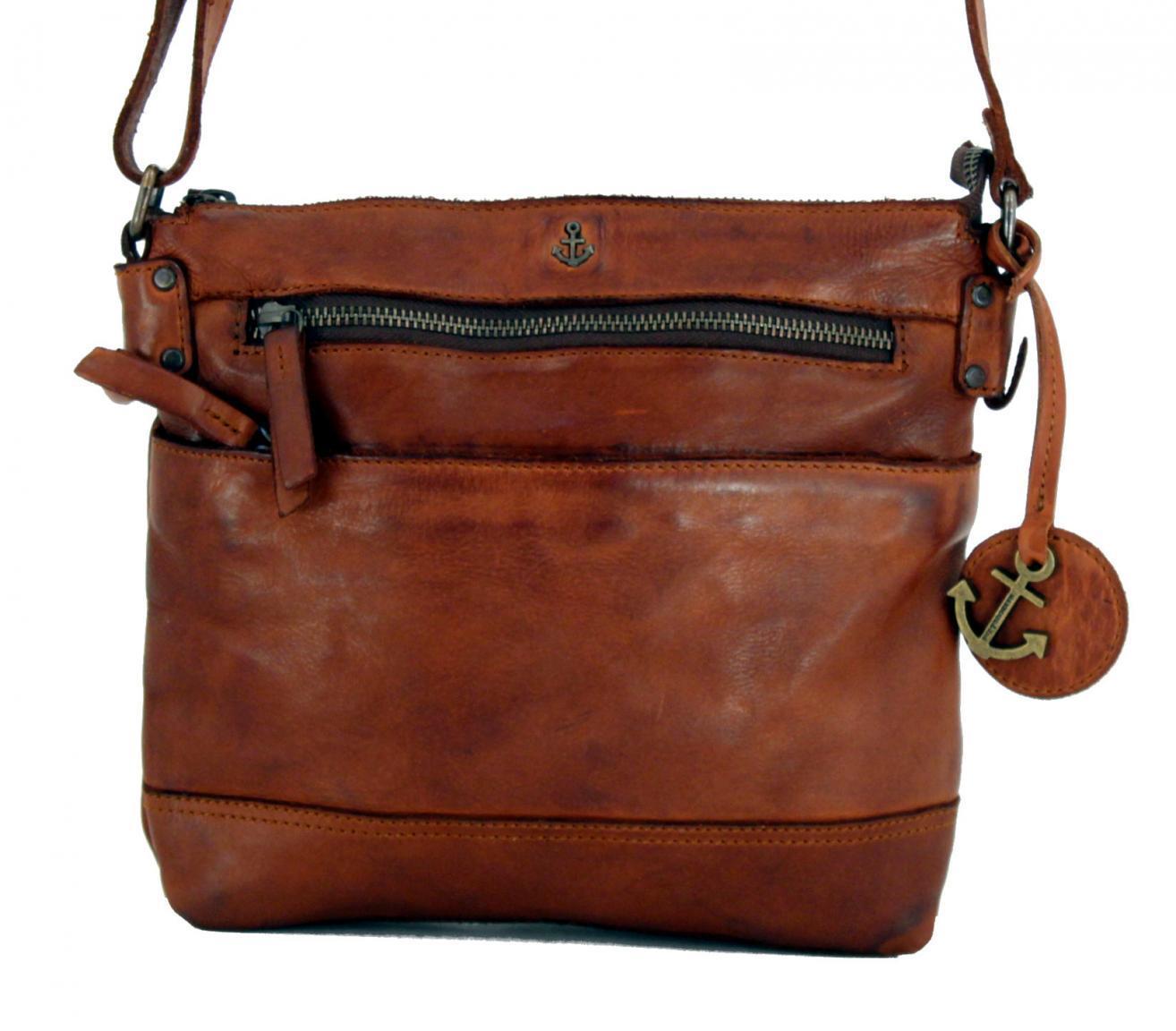 Isalie Cognac Harbour 2nd Umhängetasche braun Leder Vintage