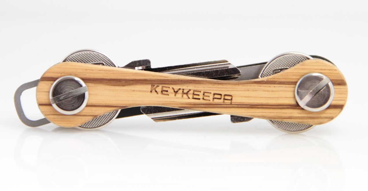 KEYKEEPA Key Holder Edelholz Zebrano braun Streifen