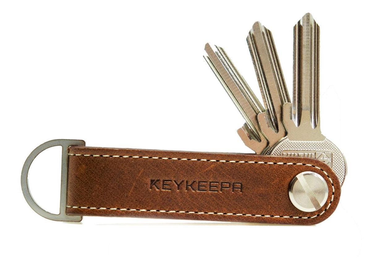 KEYKEEPA Schlüsselband Loop Mocca dunkelbraun