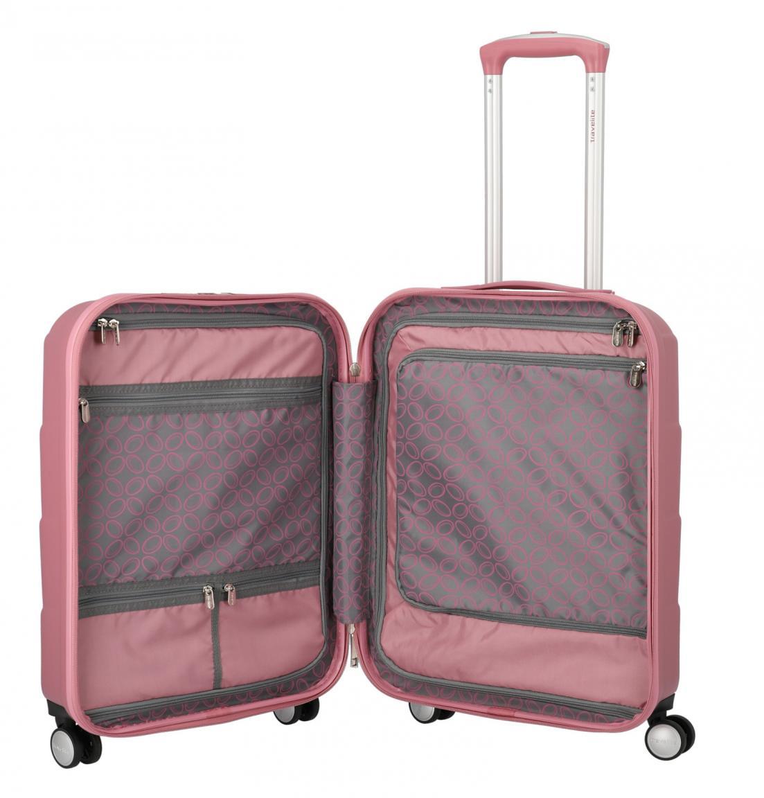 Kabinentrolley Travelite Kalisto S Rose pink Hartschale 55cm