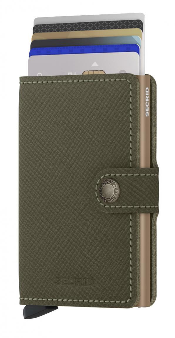 Kartenbörse Ausleseschutz RFID grün Secrid miniwallet Saffiano Olive