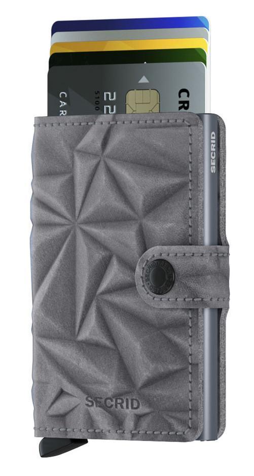 Kartenbörse Secrid Miniwallet Prism Stone geprägt RFID steingrau